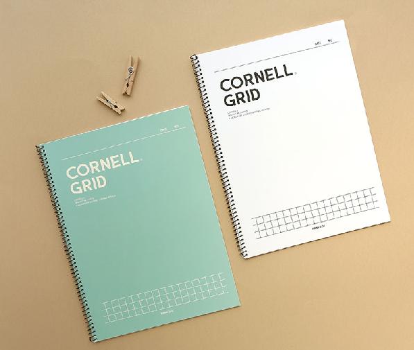 สมุดโน้ต เกาหลี Ropamoda สมุดโน้ตเส้นกริด คอลร์แนล  5mm Cornell grid note ปกอ่อน Made In Korea