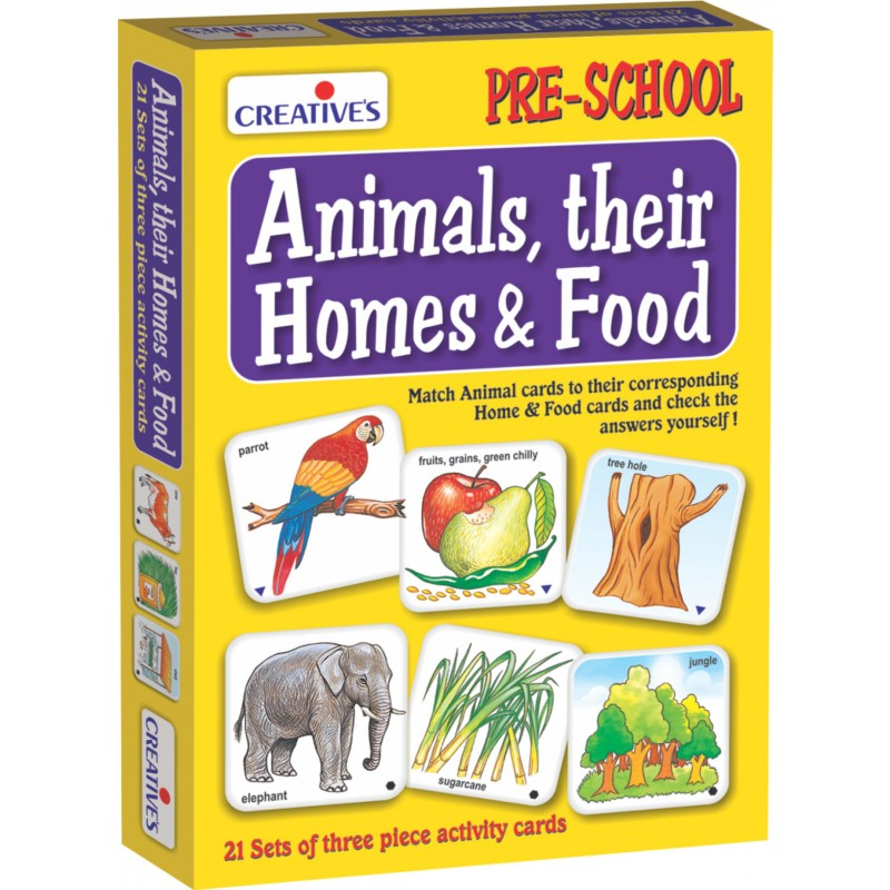 Animals, Their Homes & Food