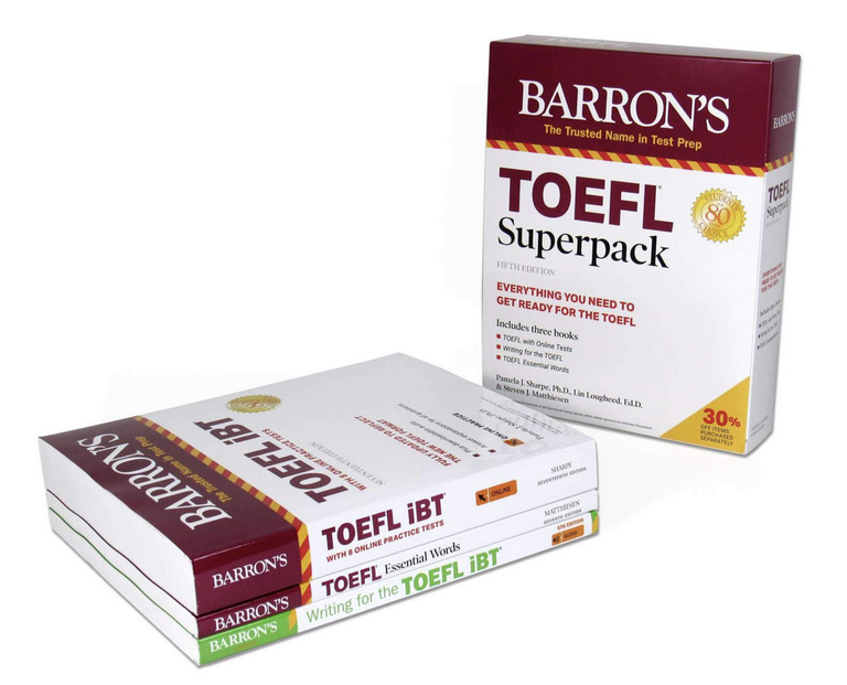 TOEFL SUPERPACK: 3 BOOKS+PRACTICE TESTS