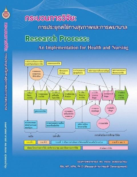 กระบวนการวิจัย :การประยุกต์ใช้ทางสุขภาพและการพยาบาล