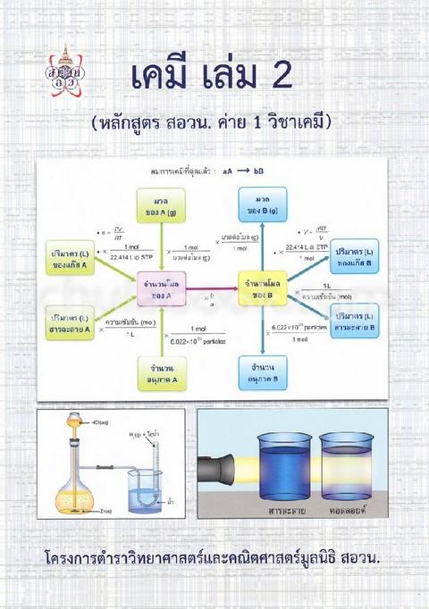 เคมี เล่ม 2 (หลักสูตร สอวน. ค่าย 1 วิชาเคมี) :โครงการตำราวิทยาศาสตร์และคณิตศาสตร์ มูลนิธิ สอวน.