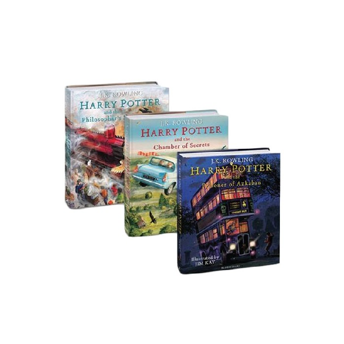 HARRY POTTER (BOOK 1-3) (ILLUSTRATED EDITION) (NO BOX) (UK VERSION)