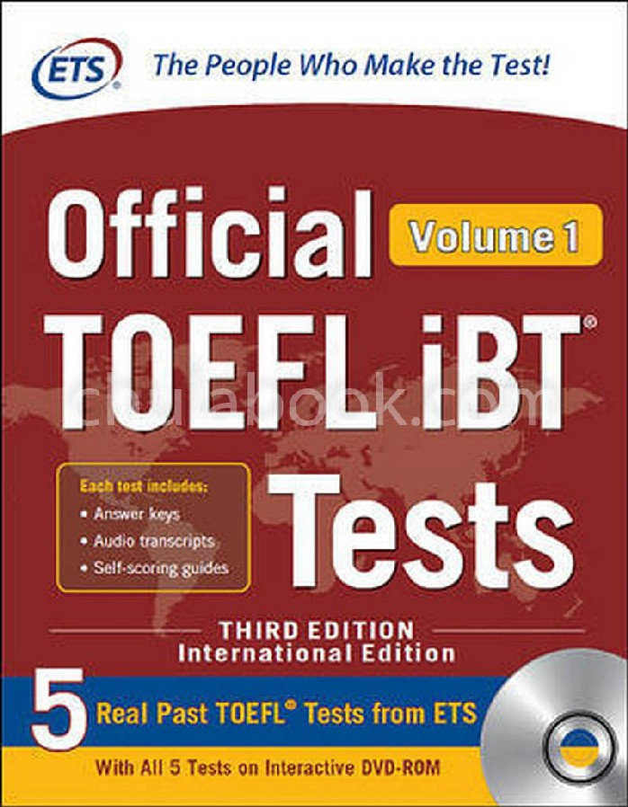 OFFICIAL TOEFL IBT TESTS VOLUME 1 (1 BK./1 DVD) (IE)