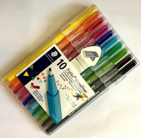 ชุดปากกาไตรพลัส บอร์ด ไลน์เนอร์ 10 สี  #338-SB10