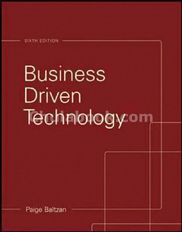BUSINESS DRIVEN TECHNOLOGY (IE)