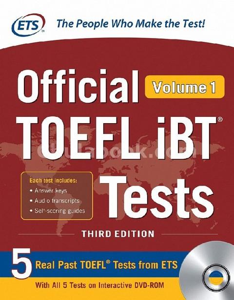 OFFICIAL TOEFL IBT TESTS VOLUME 1 (1 BK./1 DVD)