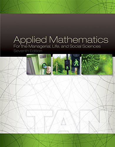 APPLIED MATHEMATICS FOR THE MANAGERIAL, LIFE, AND SOCIAL SCIENCES (HC)