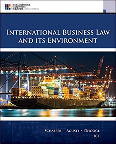 INTERNATIONAL BUSINESS LAW AND ITS ENVIRONMENT (HC)