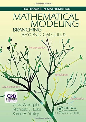 MATHEMATICAL MODELING: BRANCHING BEYOND CALCULUS (TEXTBOOKS IN MATHEMATICS) (HC)