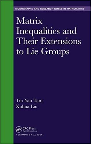 MATRIX INEQUALITIES AND THEIR EXTENSIONS TO LIE GROUPS (MONOGRAPHS AND RESEARCH NOTES IN MATHEMATICS