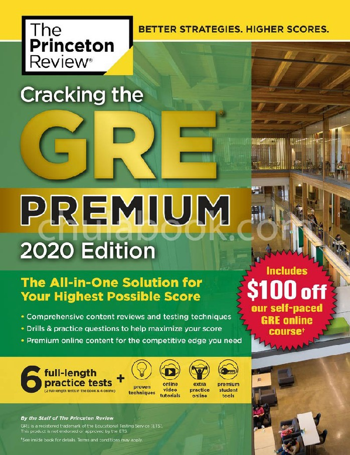 CRACKING THE GRE PREMIUM: 2020 EDITION (WITH 6 PRACTICE TESTS) (THE PRINCETON REVIEW) **