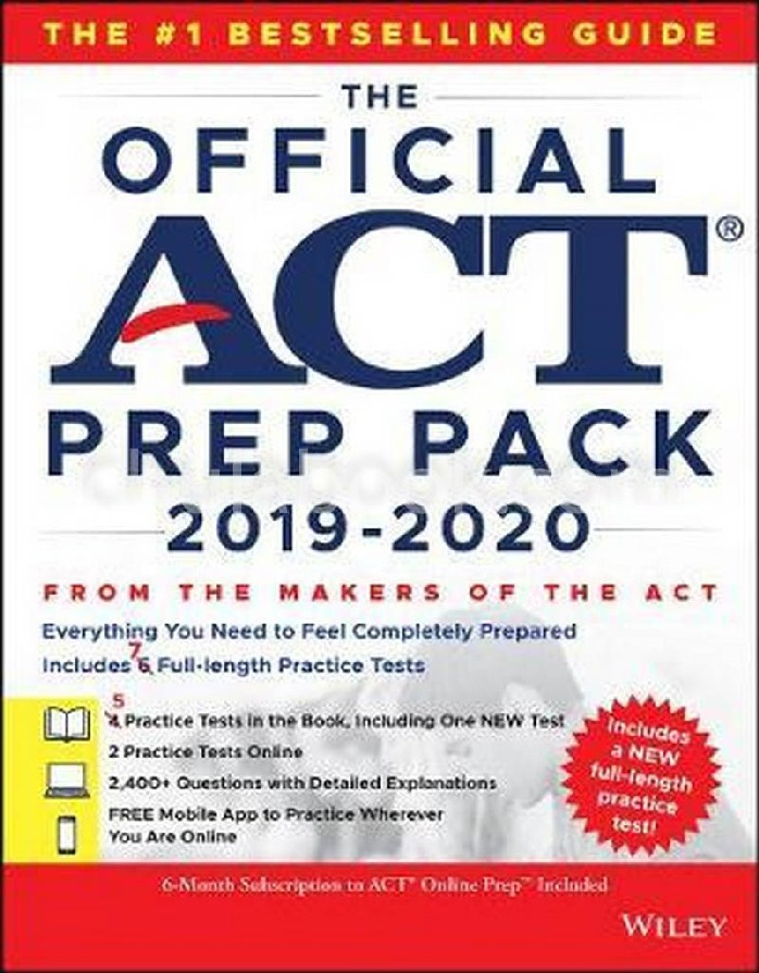 THE OFFICIAL ACT PREP PACK WITH 7 FULL PRACTICE TESTS (4 IN OFFICIAL ACT PREP GUIDE + 2 ONLINE)