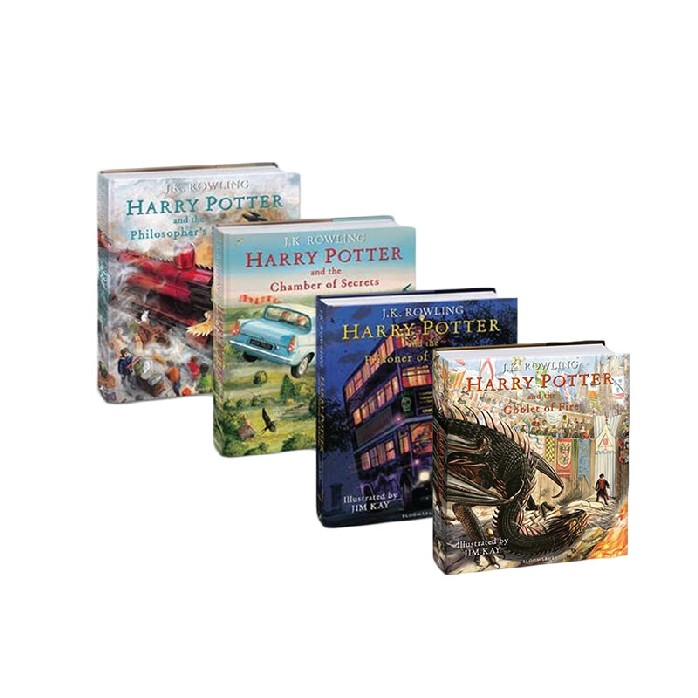 HARRY POTTER (BOOK 1-4) (ILLUSTRATED EDITION) (NO BOX) (UK VERSION)