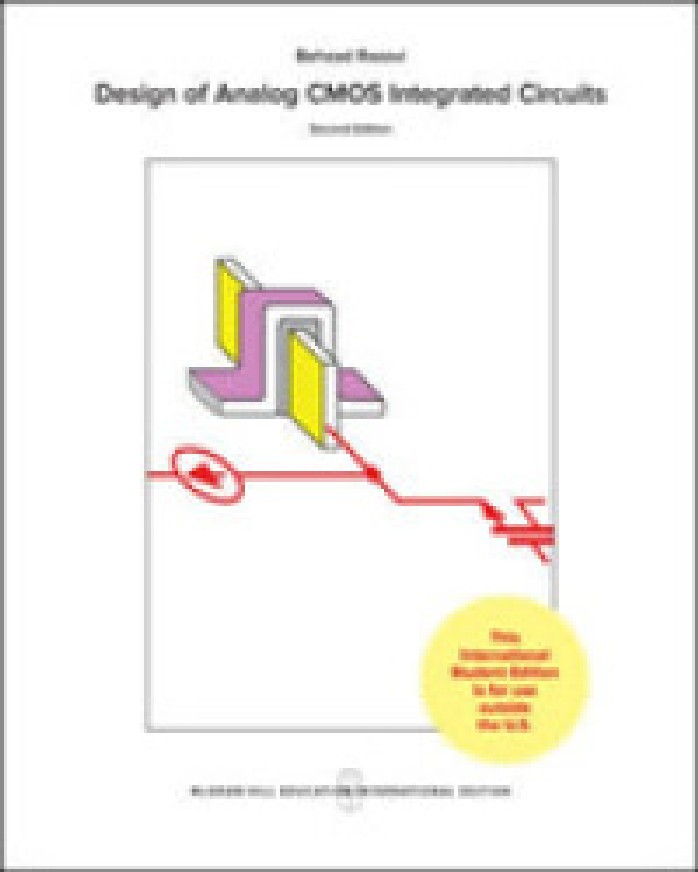 DESIGN OF ANALOG CMOS INTEGRATED CIRCUITS (IE)