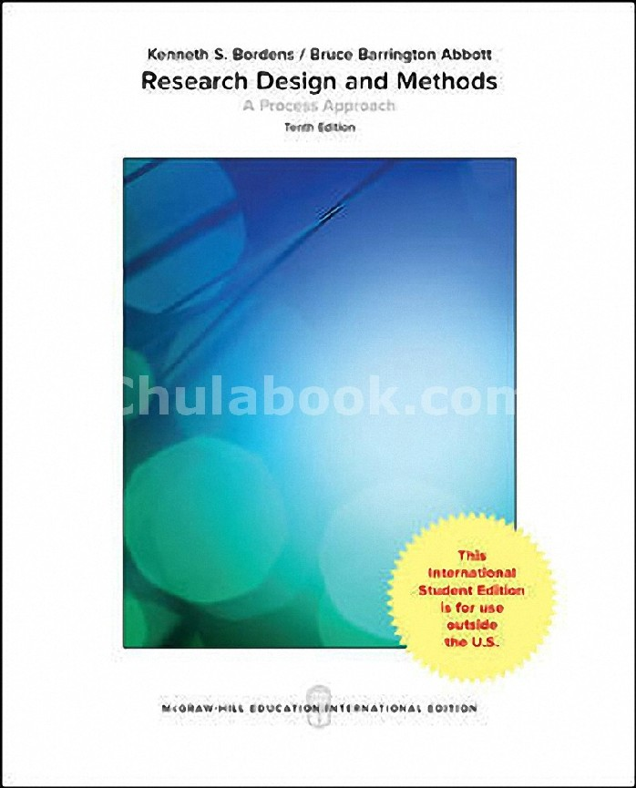 RESEARCH DESIGN AND METHODS: A PROCESS APPROACH (COLLEGE IE OVERRUNS) (ISE)
