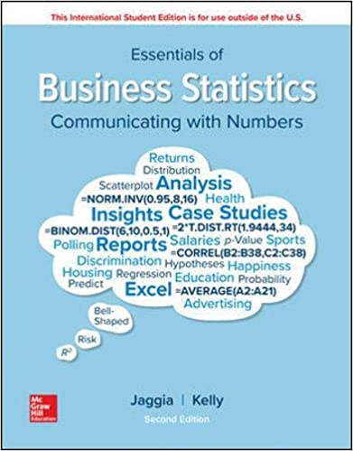 ESSENTIALS OF BUSINESS STATISTICS (IE)