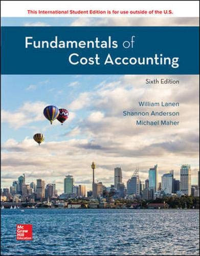 FUNDAMENTALS OF COST ACCOUNTING (ISE)