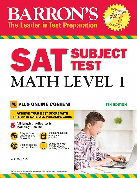 SAT SUBJECT TEST: MATH LEVEL 1 (WITH BONUS ONLINE TESTS) (BARRON'S)