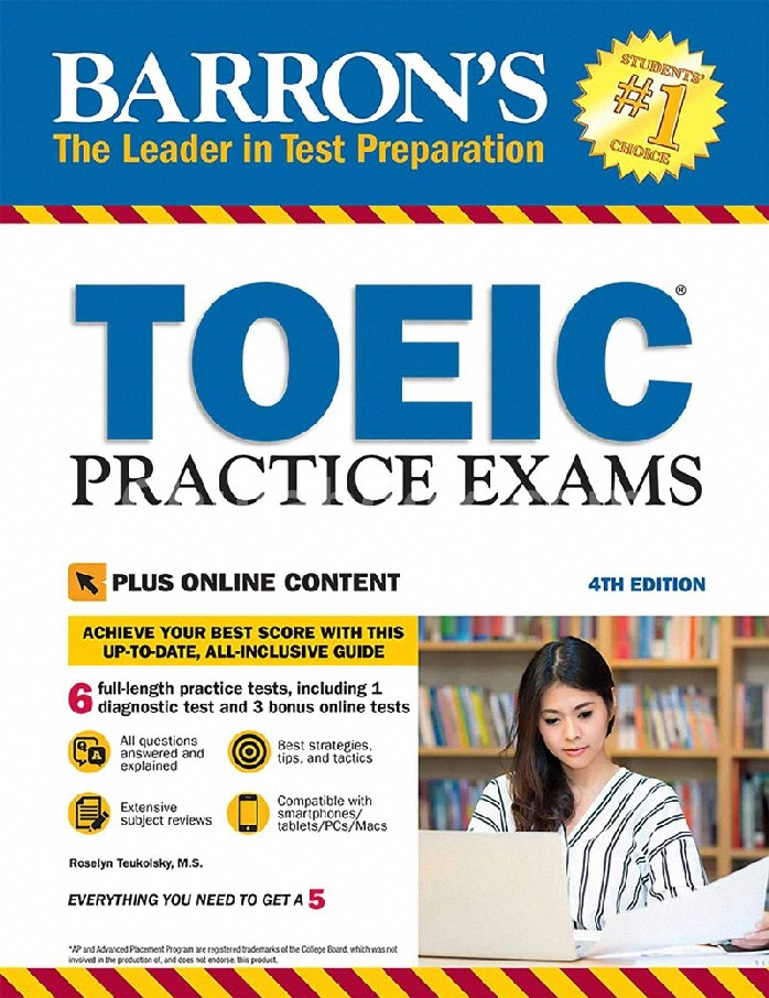 TOEIC PRACTICE EXAMS (WITH DOWNLOADABLE AUDIO) (BARRON'S)