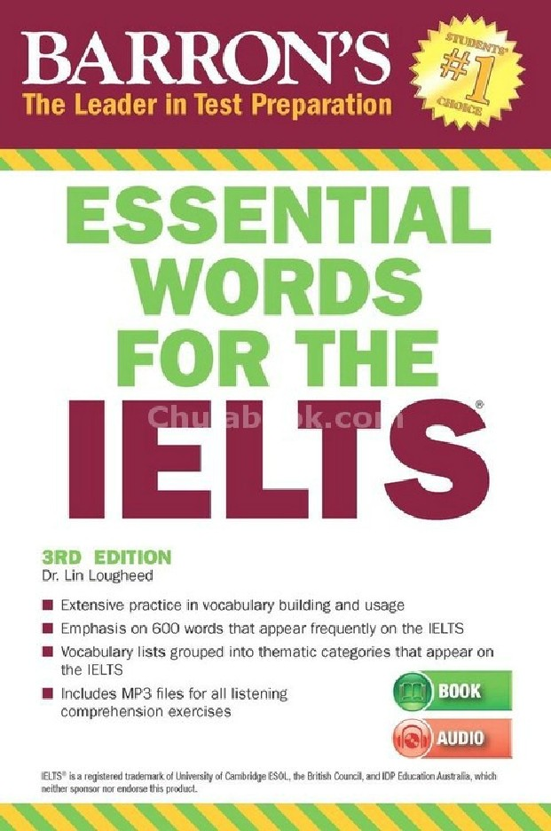 ESSENTIAL WORDS FOR THE IELTS (BARRON'S) (1 BK./1 MP3)