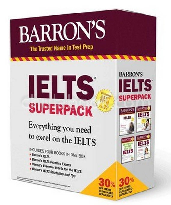 BARRON'S IELTS SUPERPACK (4 BK./3 CD-ROM)