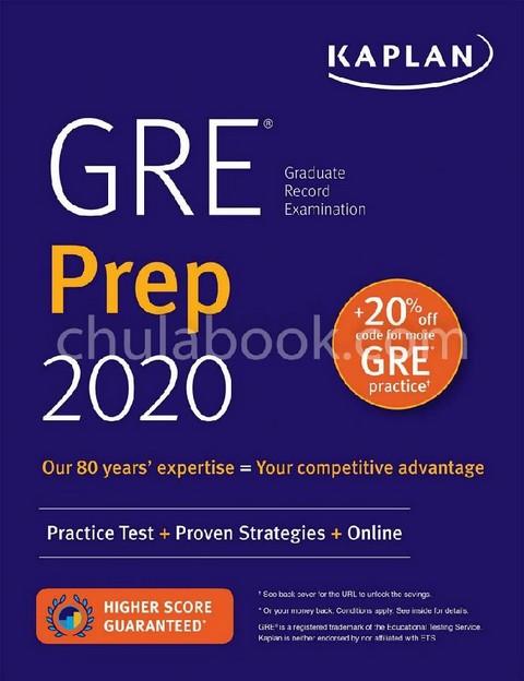 GRE PREP 2020: PRACTICE TESTS+PROVEN STRATEGIES+ONLINE (KAPLAN TEST PREP)