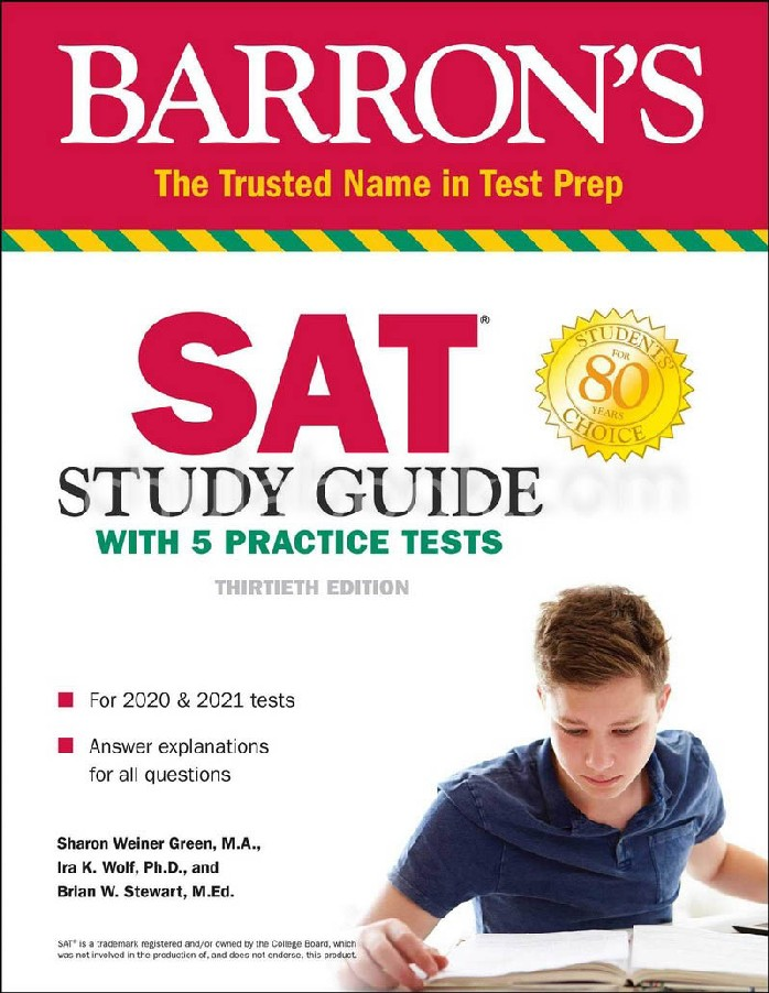SAT STUDY GUIDE WITH 5 PRACTICE TESTS (2020 EDITION) (BARRON'S TEST PREP)
