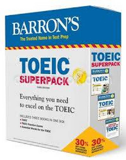 TOEIC SUPERPACK (BARRON'S) (3 BK./1 CD-ROM)