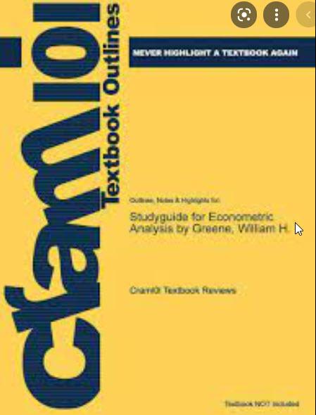 STUDYGUIDE FOR ECONOMETRIC ANALYSIS