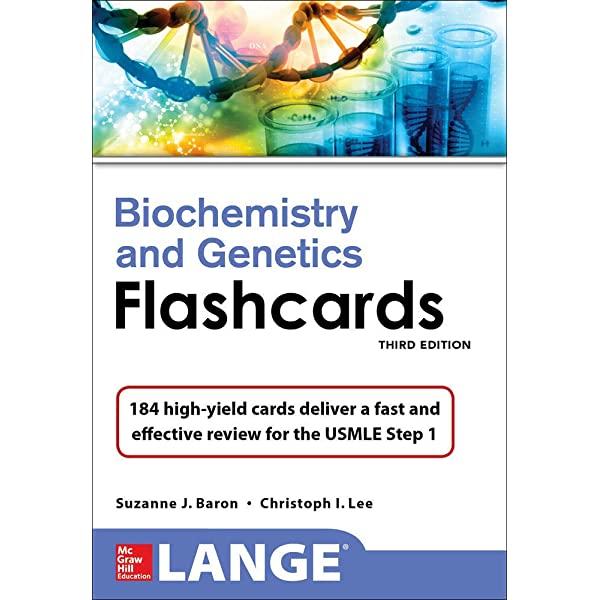 LANGE BIOCHEMISTRY AND GENETICS FLASHHCARDS